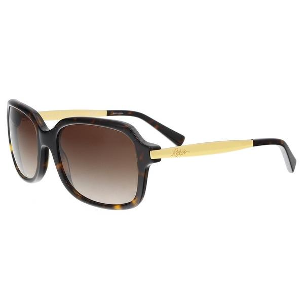 0b8b4160cb1c6 Ralph Lauren RA5202 145213 Tortoise  Gold Rectangle Sunglasses - 55-17-135