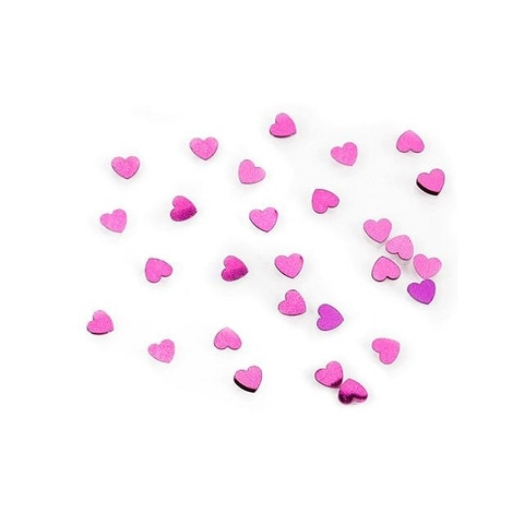 Darice Confetti Pack 6mm Hearts Hot Pink .5oz