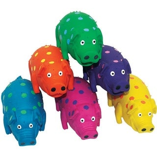 MultiPet 61004 Dog Pig Pet Toy, Latex, Assorted
