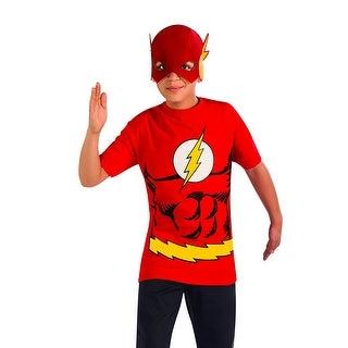 The Flash Superhero Child Costume Shirt W Mask