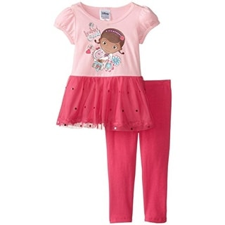 Disney Doc McStuffins Toddler Girls Ruffled Pant Outfit - 2T