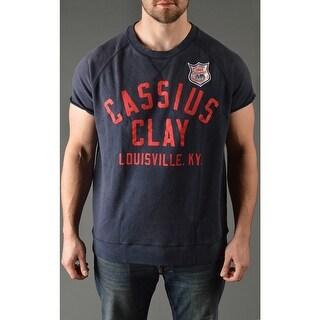 Roots of Fight Cassius Clay Cut-Off Sweatshirt - Dark Navy