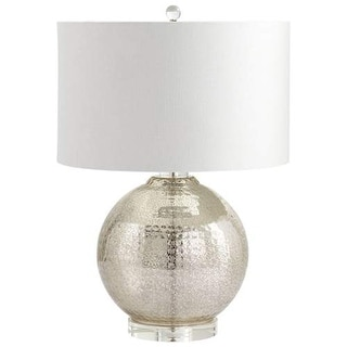 Cyan Design Hammered Reflections Table Lamp Hammered Reflections 1 Light Accent Table Lamp with White Shade - mercury