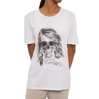 The Kooples Short Sleeve Crew Neck T-Shirt Women Regular T-Shirt