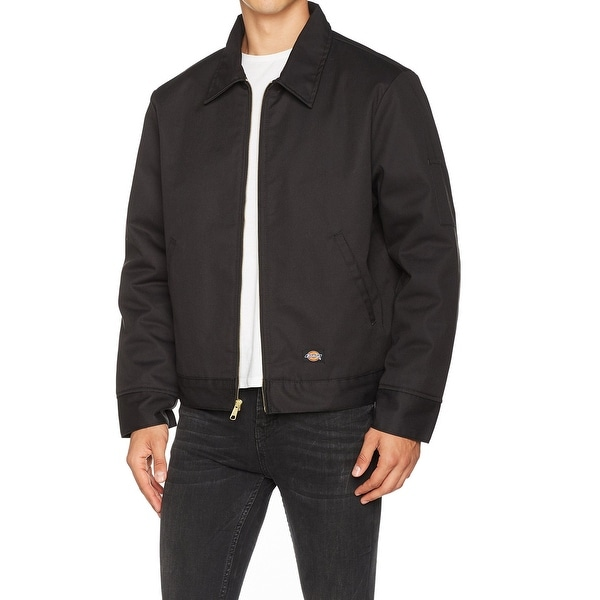 c56e9253892ef6 Dickies-Black-Mens-Size-XL-Insulated-Eisenhower-Front-Zip-Jacket.jpg