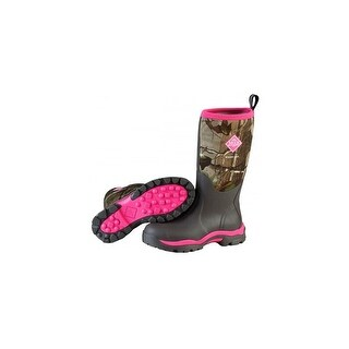 Muck Boots Bark/Realtree Xtra/Hot Pink Women's Woody PK Boot - Size 6