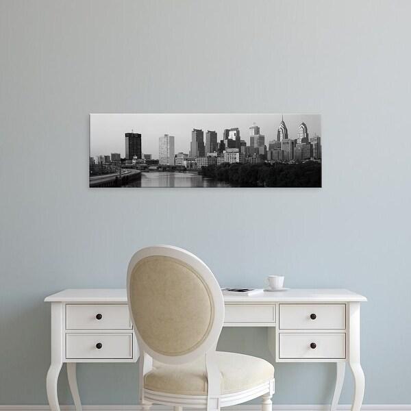 Easy Art Prints Panoramic Image 'River passing through a city, Schuylkill River, Philadelphia, Pennsylvania' Canvas Art