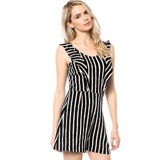 NE PEOPLE Women's Sexy Scoop Neck Striped Shorts Sleeveless Romper Jumpsuits (More options available)