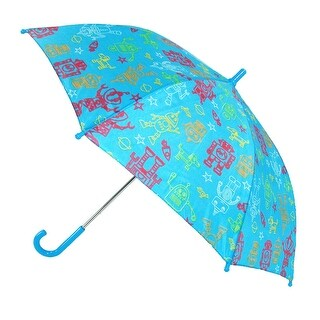CTM® Kids' Space Print Stick Umbrella with Hook Handle - One size