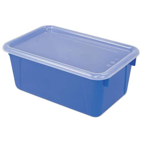 "Cubby Bins, 12.25"" x 7.75"" x 5.13"", Blue, 6/Pack - Blue"