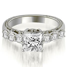 1.25 cttw. 14K White Gold Princess and Round Cut Diamond Engagement Ring (Option: 3) https://ak1.ostkcdn.com/images/products/is/images/direct/ffa4d72c72a1d6f83c5fd1e57a8dd7ef6518a4e4/1.25-cttw.-14K-White-Gold-Princess-and-Round-Cut-Diamond-Engagement-Ring.jpg?impolicy=medium