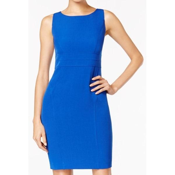 38064c9a8de Kasper NEW Blue Women  x27 s Size 2P Petite Stretch-Crepe Sheath Dress