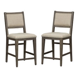 Link to Crescent Creek Weathered Grey Counter Height Chairs (Set of 2) Similar Items in Dining Room & Bar Furniture