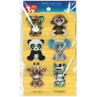 Beanie Boos Stickers 12/Pkg-Jungle