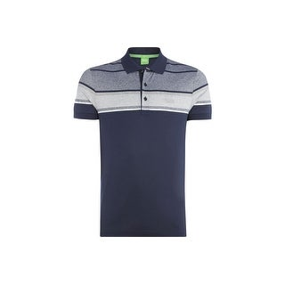 Hugo Boss Green Men's Slim Fit Paule 5 Polo Shirt Navy