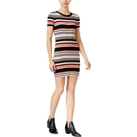 Sanctuary Womens Sweaterdress Striped Short Sleeves