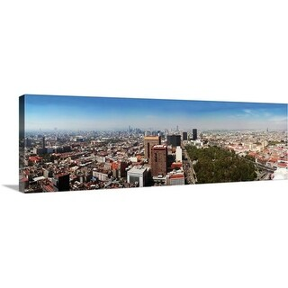 """""""Aerial view of cityscape, Mexico City, Mexico"""" Canvas Wall Art"""