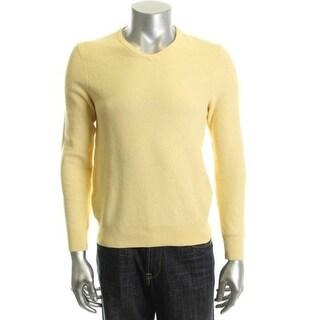 Izod Mens Pique V-Neck Pullover Sweater - L