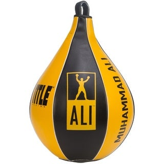Title Boxing Ali Synthetic Leather Super Speed Bag - Black/Yellow
