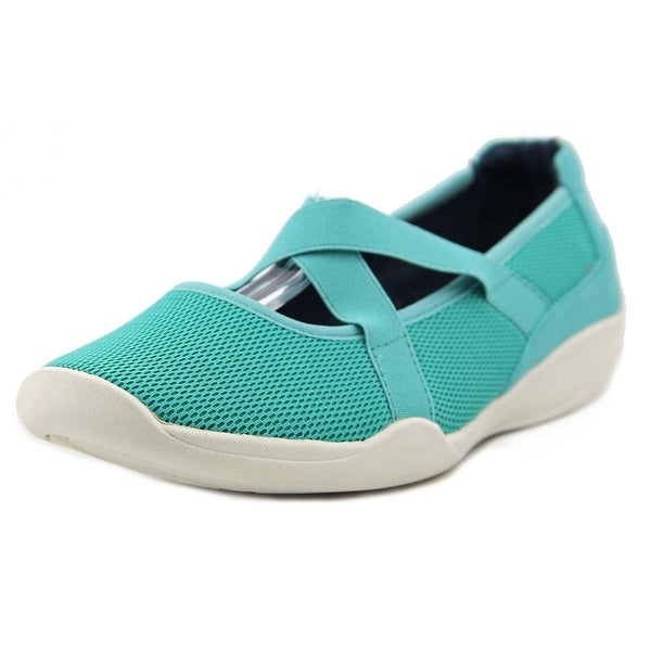 Stretchies Alison Women Round Toe Synthetic Blue Mary Janes