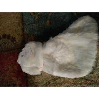 Noel Blanc Faux Fur Design White Holiday Christmas Stocking