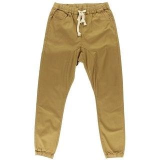 Victorious Mens Drop Crotch Flat Front Jogger Pants - XL