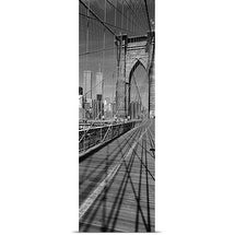 Poster Print entitled Brooklyn Bridge Manhattan New York City NY