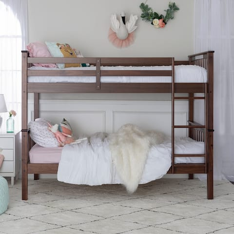 Taylor & Olive Como Wood Mission Twin Over Twin Bunk Bed