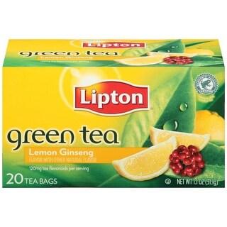 Lipton Lemon Ginseng Green Bags 20 ct   (Pack of 6)