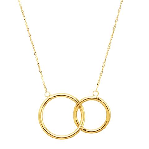 Eternity Gold Interlocking Rings Necklace in 10K Gold - Yellow