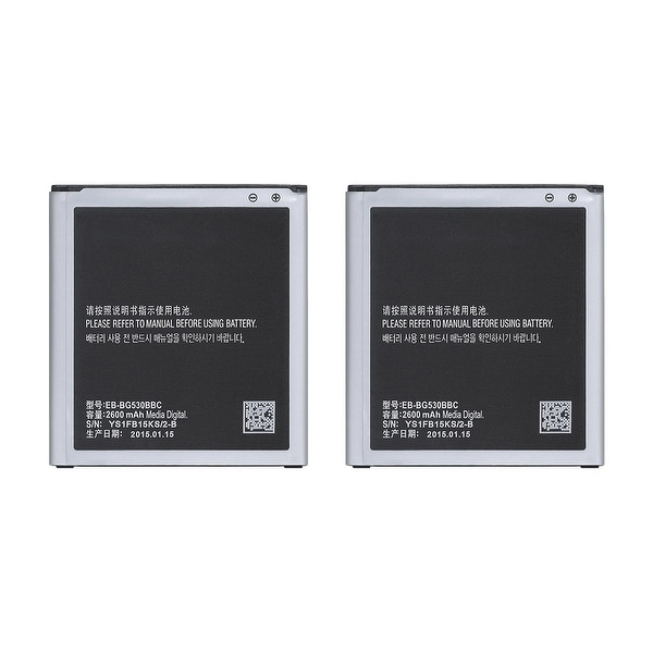 Shop Replacement Battery For Samsung Galaxy J5 Mobile Phones - EB-BG530BBC ( 2600mAh, 3.8V, Lithium Ion) - 2 Pack - Free Shipping On Orders Over $45 - - ...