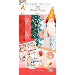 """Enchanted Christmas; Spicy Pickle - Enchanted Christmas Paper & Topper Kit 8""""X8"""" 44/Pkg"""