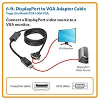 Tripp Lite P581-006 6' Displayport To Dvi-D Cable Adapter, Single-Link Adapter