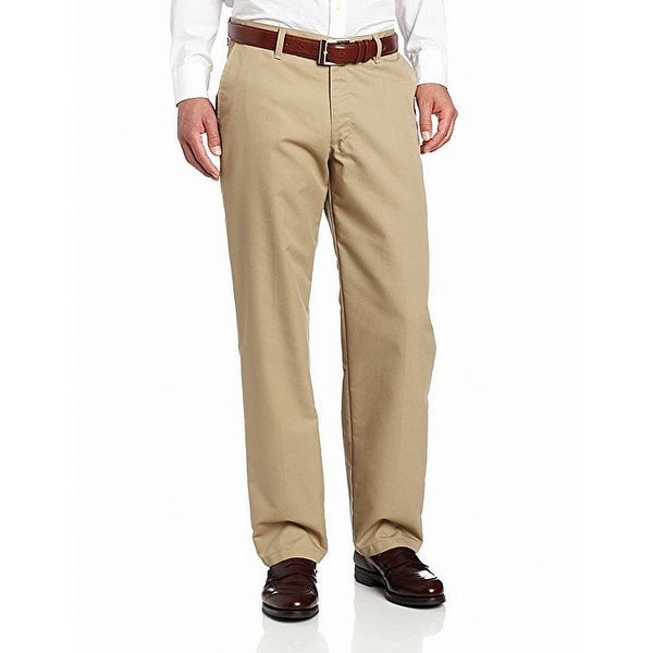 Lee Mens Dress Pants Beige Size 42x30 Flat Front Relaxed Fit Khakis. Opens flyout.
