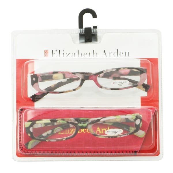 2fb92892a Shop Elizabeth Arden Womens 2 Pack Plastic Reading Glasses +2.0 Pink/Green  EA001, Includes Elizabeth Arden Soft Fashion Case - Pink - Free Shipping  Today ...