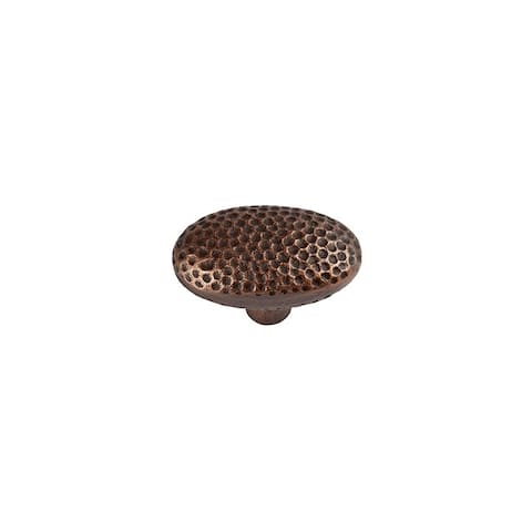 "The Copper Factory CF106 2"" Oval Cabinet Knob"