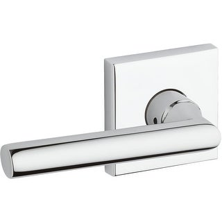 Baldwin HD.TUB.L.CSR Tube Single Dummy Lever with Contemporary Square Rose - Left Handed - N/A
