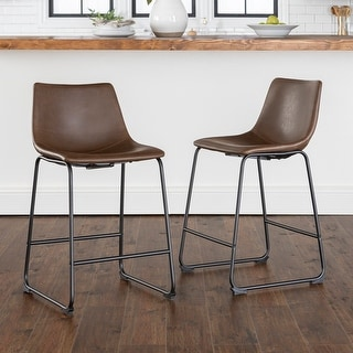 Link to Carbon Loft Prusiner Faux Leather Counter Stool (Set of 2) Similar Items in Dining Room & Bar Furniture