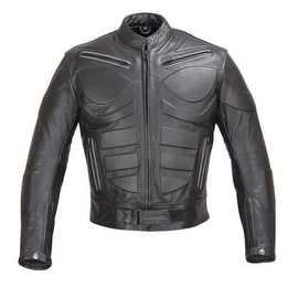 Men Motorcycle Biker Armor Leather Jacket by Xtreemgear Black MBJ009