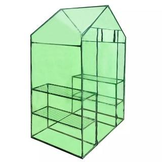 4 Shelves Greenhouse Portable Mini Walk In Outdoor Garden Green House 2 Tier