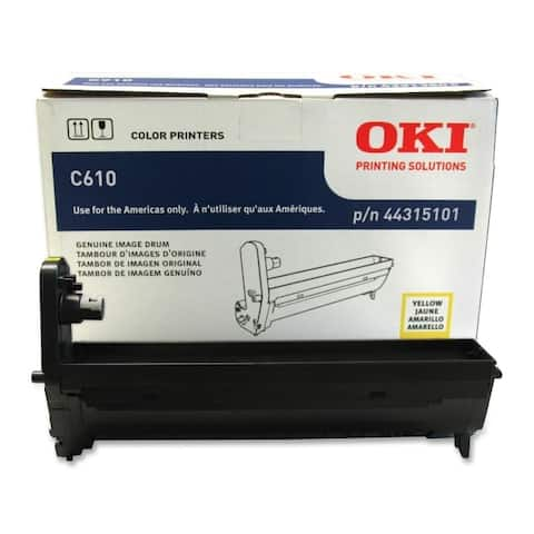 Okidata 44315101 c610 yellow drum for for c610cdn, c610dn, c610dtn, c610n, c610n pen printing sol
