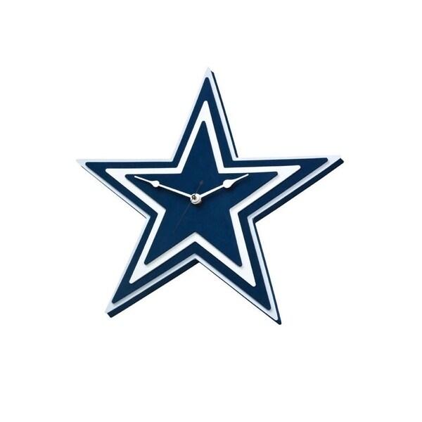 Shop NFL Dallas Cowboys Logo Foam Clock - Free Shipping On Orders ... 01d140ffd