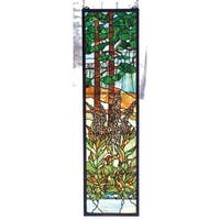 Meyda Tiffany 74037 Stained Glass Tiffany Window from the Wildflowers Collection - n/a