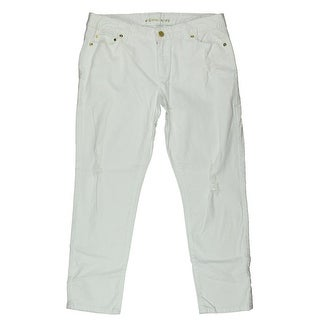 MICHAEL Michael Kors Womens Cropped Jeans Denim Distressed
