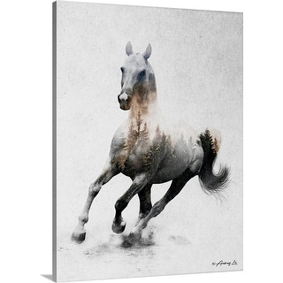 """Galloping Stallion"" Canvas Wall Art"