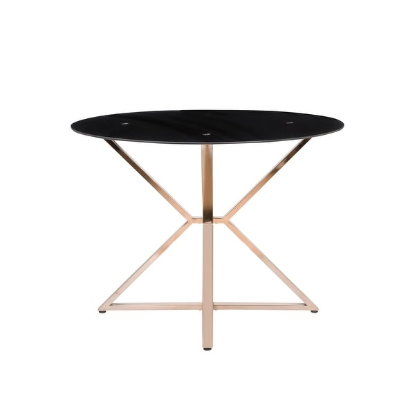 Furniture of America Elfenda Contemporary Gold 41-in Dining Table. Opens flyout.