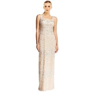 Sue Wong Embroidered Beaded Column Evening Gown Dress - 2