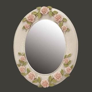 Victorian Vanity Mirror Hand Painted Porcelain Frame