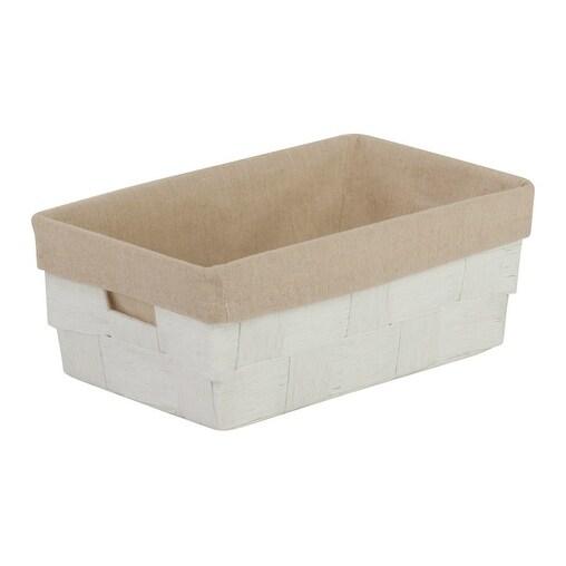 Honey-Can-Do STO-03725 Shelf Tote, White