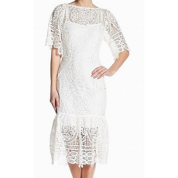 d213f0e287 Shop Eva By Eva Franco Womens Peplum Crochet Shift Dress - On Sale - Free  Shipping Today - Overstock - 28120490
